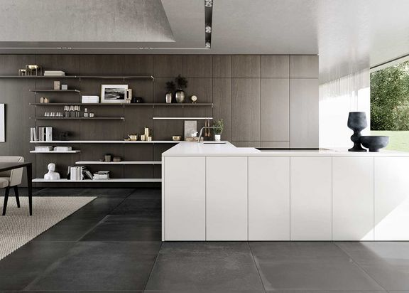 SieMatic S2 + SE white lotus and truffle oak